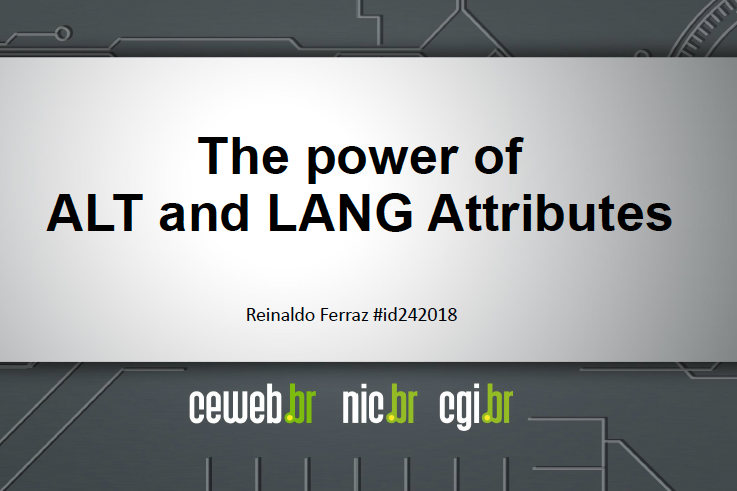 The power of ALT and LANG Attributes