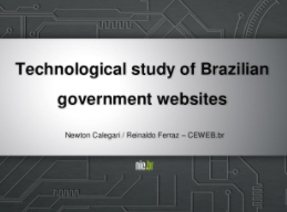 Technological study of Brazilian government websites
